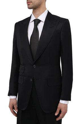 Мужской пиджак из вискозы TOM FORD черного цвета, арт. 979R07/11ML40   Фото 3