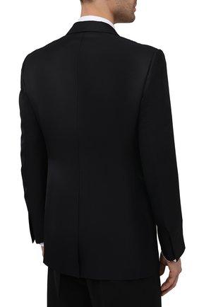 Мужской пиджак из вискозы TOM FORD черного цвета, арт. 979R07/11ML40   Фото 4