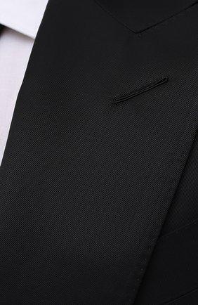 Мужской пиджак из вискозы TOM FORD черного цвета, арт. 979R07/11ML40   Фото 5