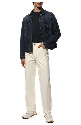 Мужская льняная футболка LORO PIANA темно-синего цвета, арт. FAL5748 | Фото 2
