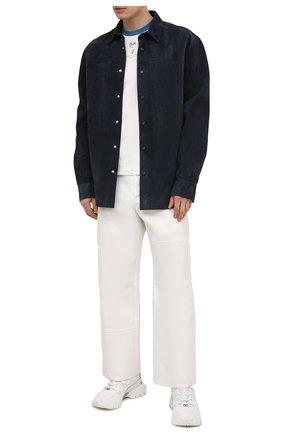 Мужская замшевая рубашка LANVIN темно-синего цвета, арт. RM-JA0014-L006-E21   Фото 2