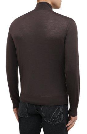 Мужской шерстяной кардиган ERMENEGILDO ZEGNA коричневого цвета, арт. UWM00/157 | Фото 4