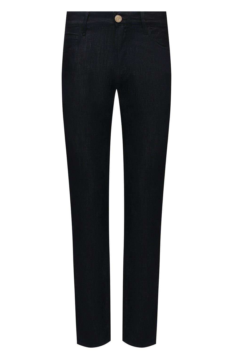 Мужские джинсы GIORGIO ARMANI темно-синего цвета, арт. 3KSJ15/SD0IZ | Фото 1