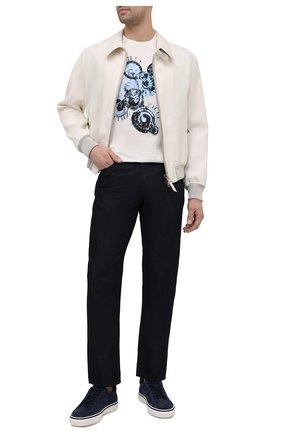 Мужские джинсы GIORGIO ARMANI темно-синего цвета, арт. 3KSJ15/SD0IZ | Фото 2
