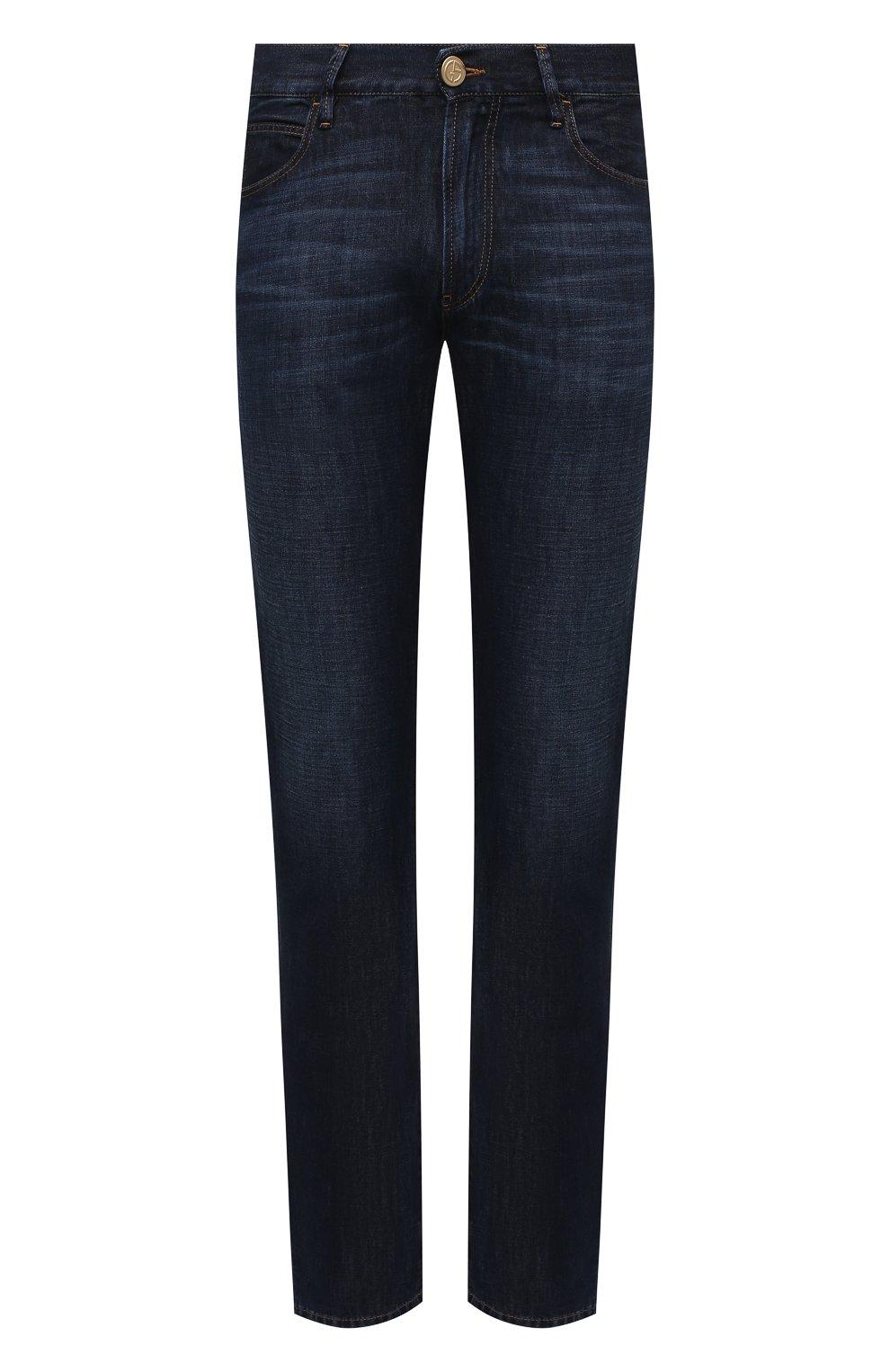 Мужские джинсы GIORGIO ARMANI синего цвета, арт. 3KSJ15/SD0IZ | Фото 1