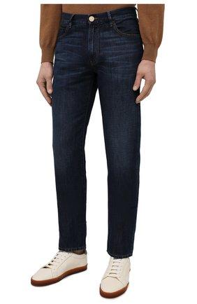 Мужские джинсы GIORGIO ARMANI синего цвета, арт. 3KSJ15/SD0IZ | Фото 3