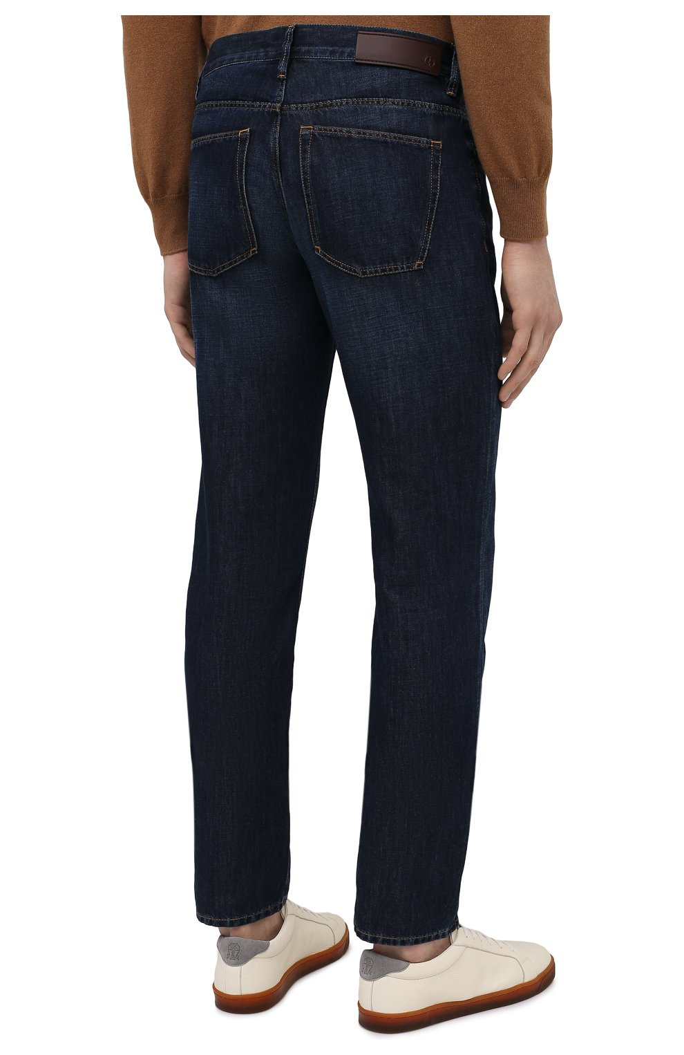 Мужские джинсы GIORGIO ARMANI синего цвета, арт. 3KSJ15/SD0IZ | Фото 4
