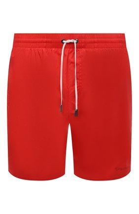 Мужские плавки-шорты GIORGIO ARMANI красного цвета, арт. 200357/CC925 | Фото 1