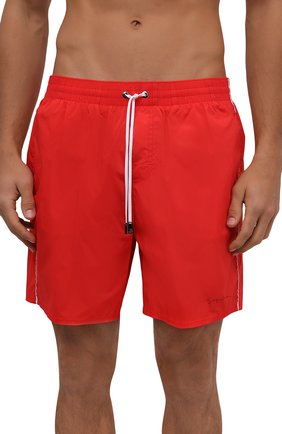 Мужские плавки-шорты GIORGIO ARMANI красного цвета, арт. 200357/CC925 | Фото 2
