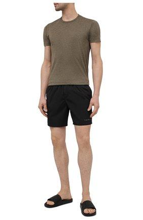 Мужские плавки-шорты GIORGIO ARMANI черного цвета, арт. 200357/CC925 | Фото 2