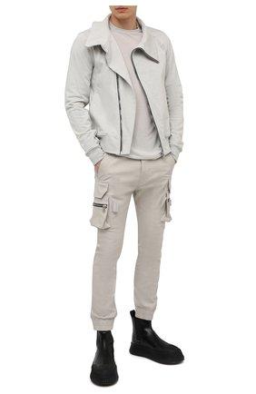 Мужская лонгслив из вискозы и шелка RICK OWENS светло-серого цвета, арт. RU21S6266/JS | Фото 2