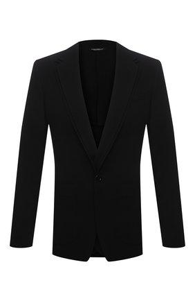 Мужской шерстяной пиджак DOLCE & GABBANA черного цвета, арт. G2PK8T/FU2MM | Фото 1
