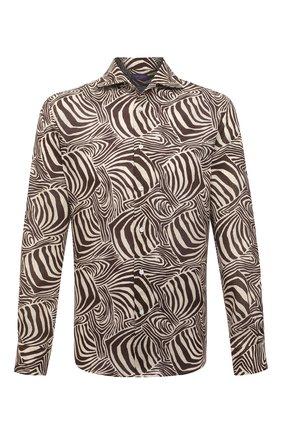 Мужская льняная рубашка RALPH LAUREN разноцветного цвета, арт. 790836060 | Фото 1