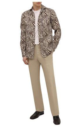 Мужская льняная рубашка RALPH LAUREN разноцветного цвета, арт. 790836060 | Фото 2