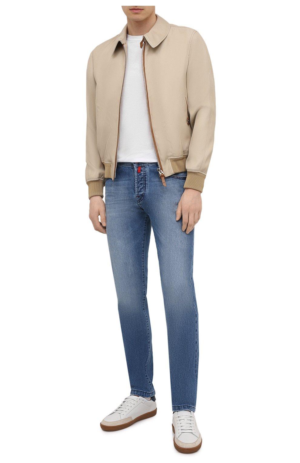 Мужские джинсы KITON голубого цвета, арт. UPNJS/J07T25 | Фото 2