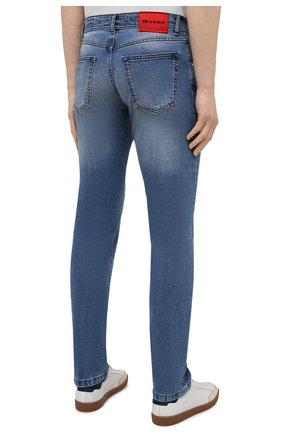 Мужские джинсы KITON голубого цвета, арт. UPNJS/J07T25 | Фото 4