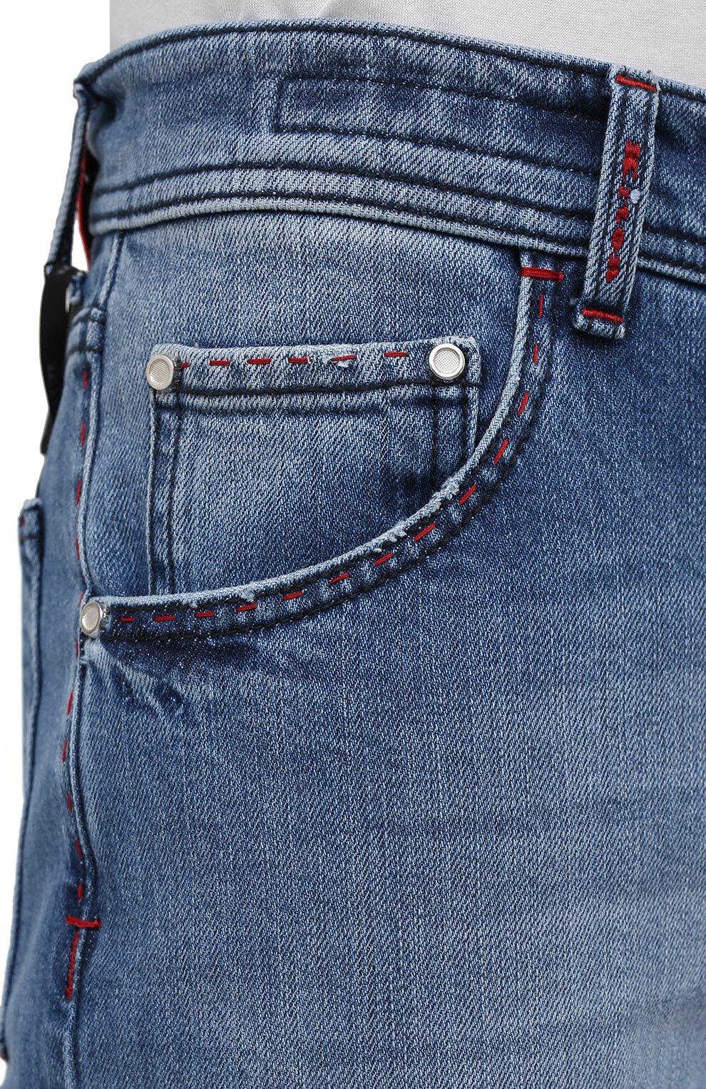 Мужские джинсы KITON голубого цвета, арт. UPNJS/J07T25 | Фото 5