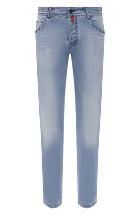 Мужские джинсы KITON голубого цвета, арт. UPNJS/J07T25 | Фото 1