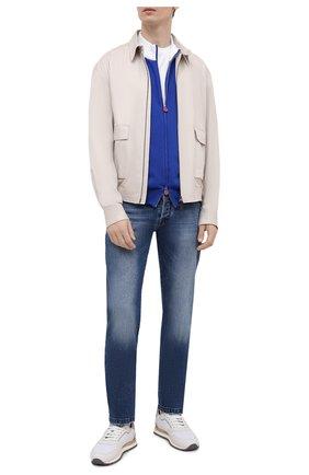 Мужские джинсы KITON синего цвета, арт. UPNJS/J07T20 | Фото 2