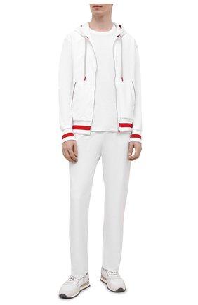 Мужской хлопковый спортивный костюм KITON белого цвета, арт. UMK0032 | Фото 1