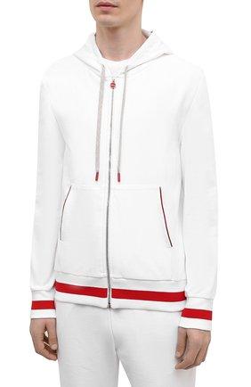 Мужской хлопковый спортивный костюм KITON белого цвета, арт. UMK0032 | Фото 2