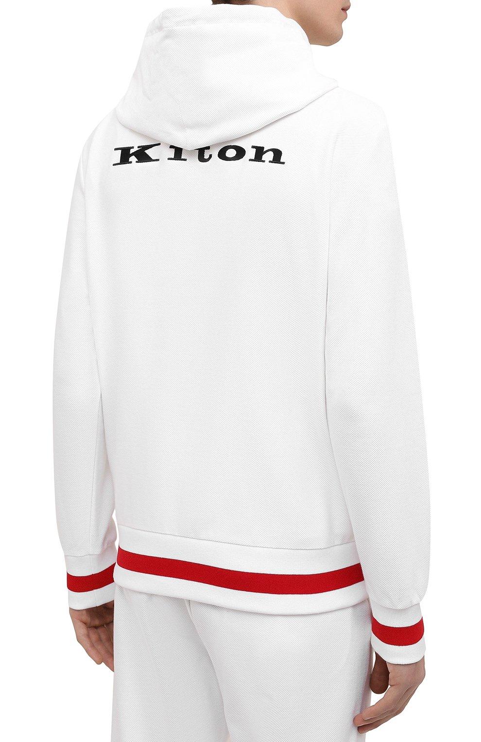 Мужской хлопковый спортивный костюм KITON белого цвета, арт. UMK0032 | Фото 3