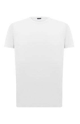Мужская футболка из хлопка и кашемира KITON белого цвета, арт. UMK0029 | Фото 1