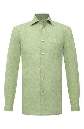 Мужская льняная рубашка KITON зеленого цвета, арт. UMCNERH0768505 | Фото 1