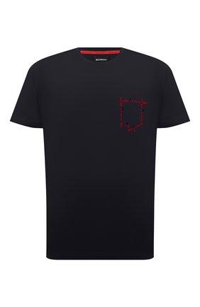 Мужская хлопковая футболка KITON темно-синего цвета, арт. UK1163 | Фото 1