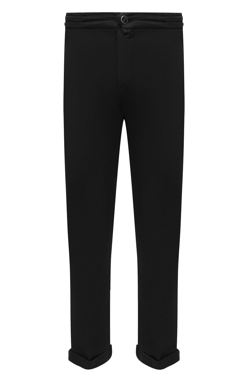 Мужские брюки KITON черного цвета, арт. UFPLACJ06T91   Фото 1