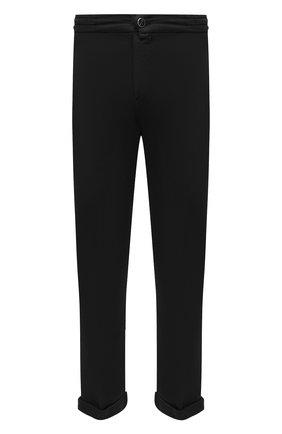 Мужские брюки KITON черного цвета, арт. UFPLACJ06T91 | Фото 1