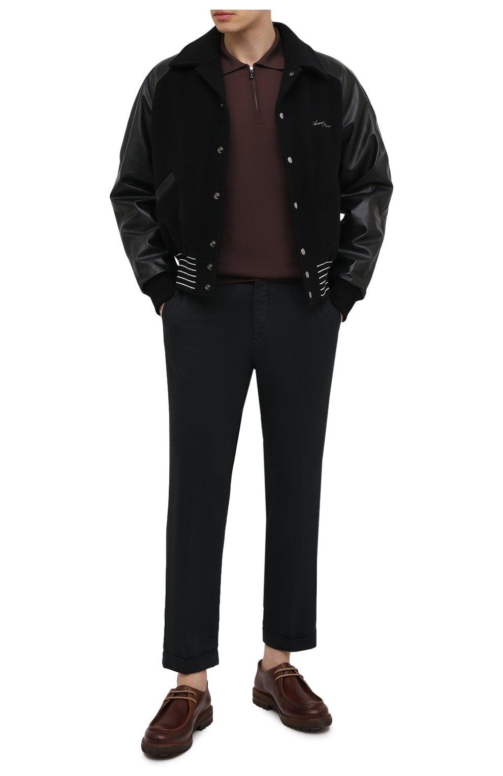 Мужские брюки KITON черного цвета, арт. UFPLACJ06T91   Фото 2