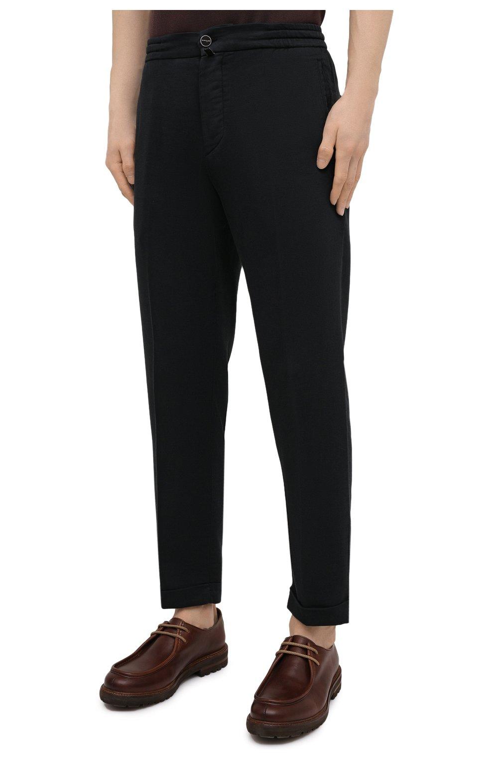 Мужские брюки KITON черного цвета, арт. UFPLACJ06T91   Фото 3