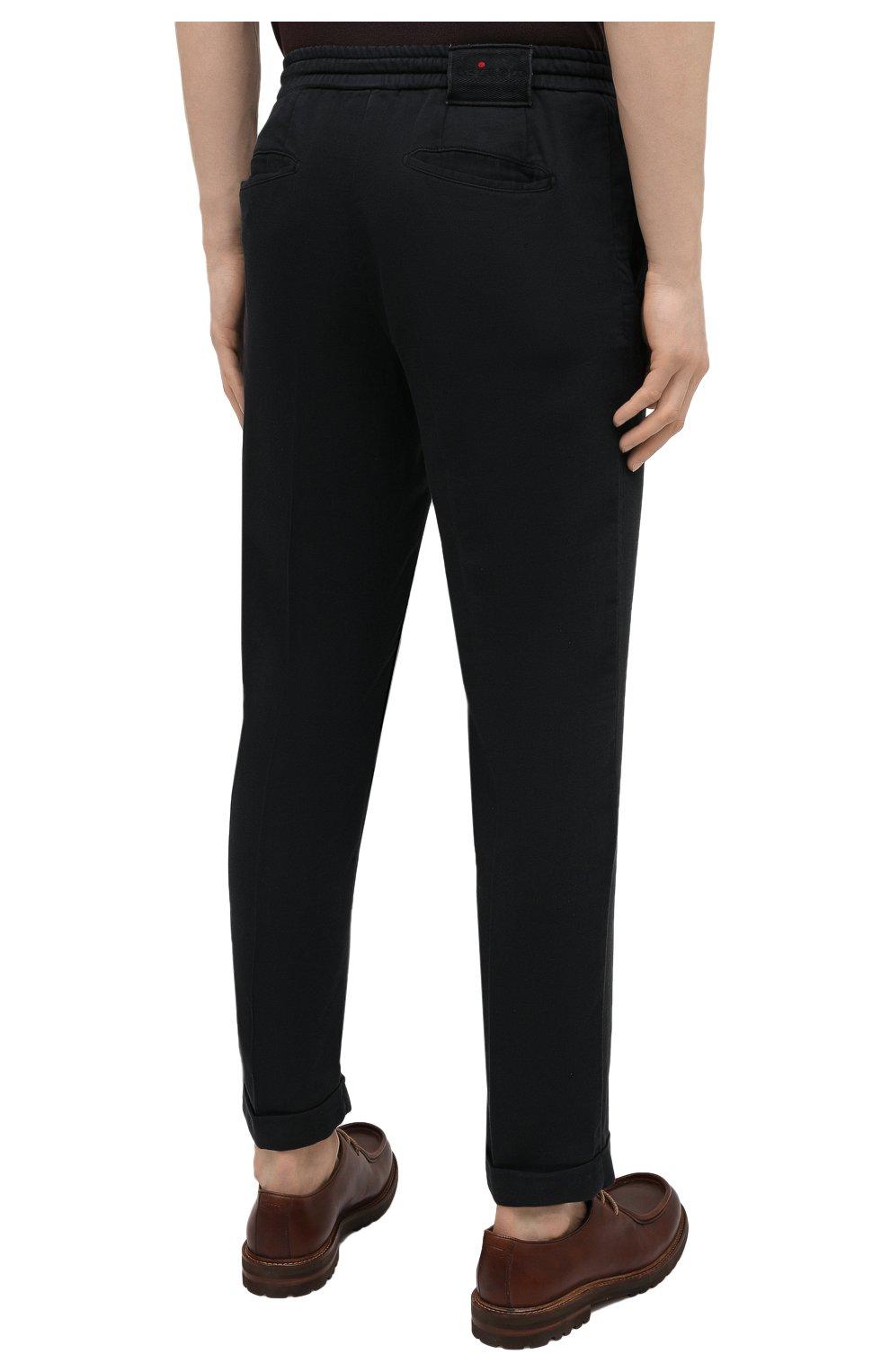 Мужские брюки KITON черного цвета, арт. UFPLACJ06T91   Фото 4
