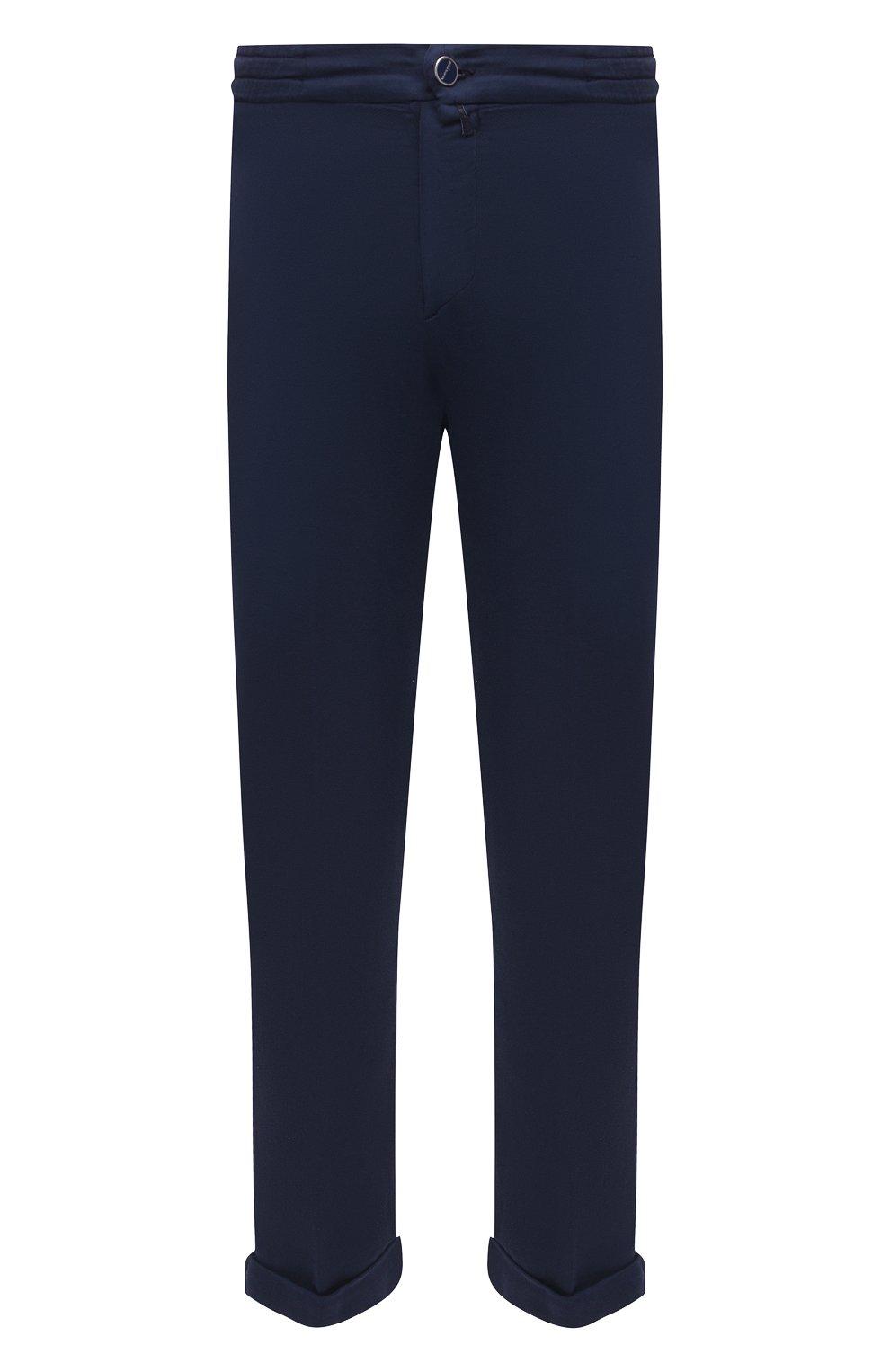 Мужские брюки KITON темно-синего цвета, арт. UFPLACJ06T91   Фото 1