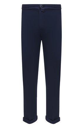 Мужские брюки KITON темно-синего цвета, арт. UFPLACJ06T91 | Фото 1