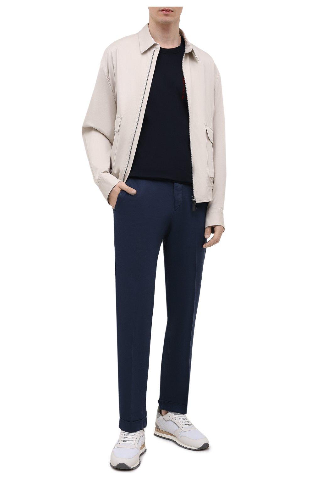 Мужские брюки KITON темно-синего цвета, арт. UFPLACJ06T91   Фото 2