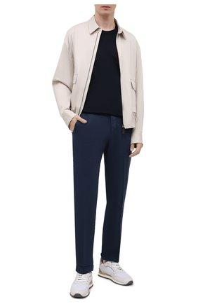 Мужские брюки KITON темно-синего цвета, арт. UFPLACJ06T91 | Фото 2