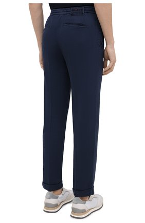Мужские брюки KITON темно-синего цвета, арт. UFPLACJ06T91   Фото 4