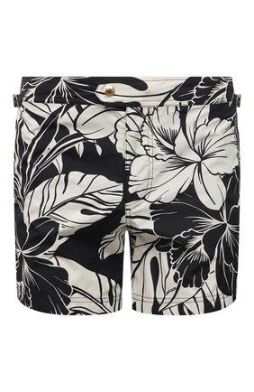 Мужские плавки-шорты TOM FORD черно-белого цвета, арт. BW652/TFB450 | Фото 1