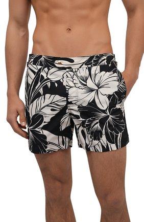 Мужские плавки-шорты TOM FORD черно-белого цвета, арт. BW652/TFB450 | Фото 2