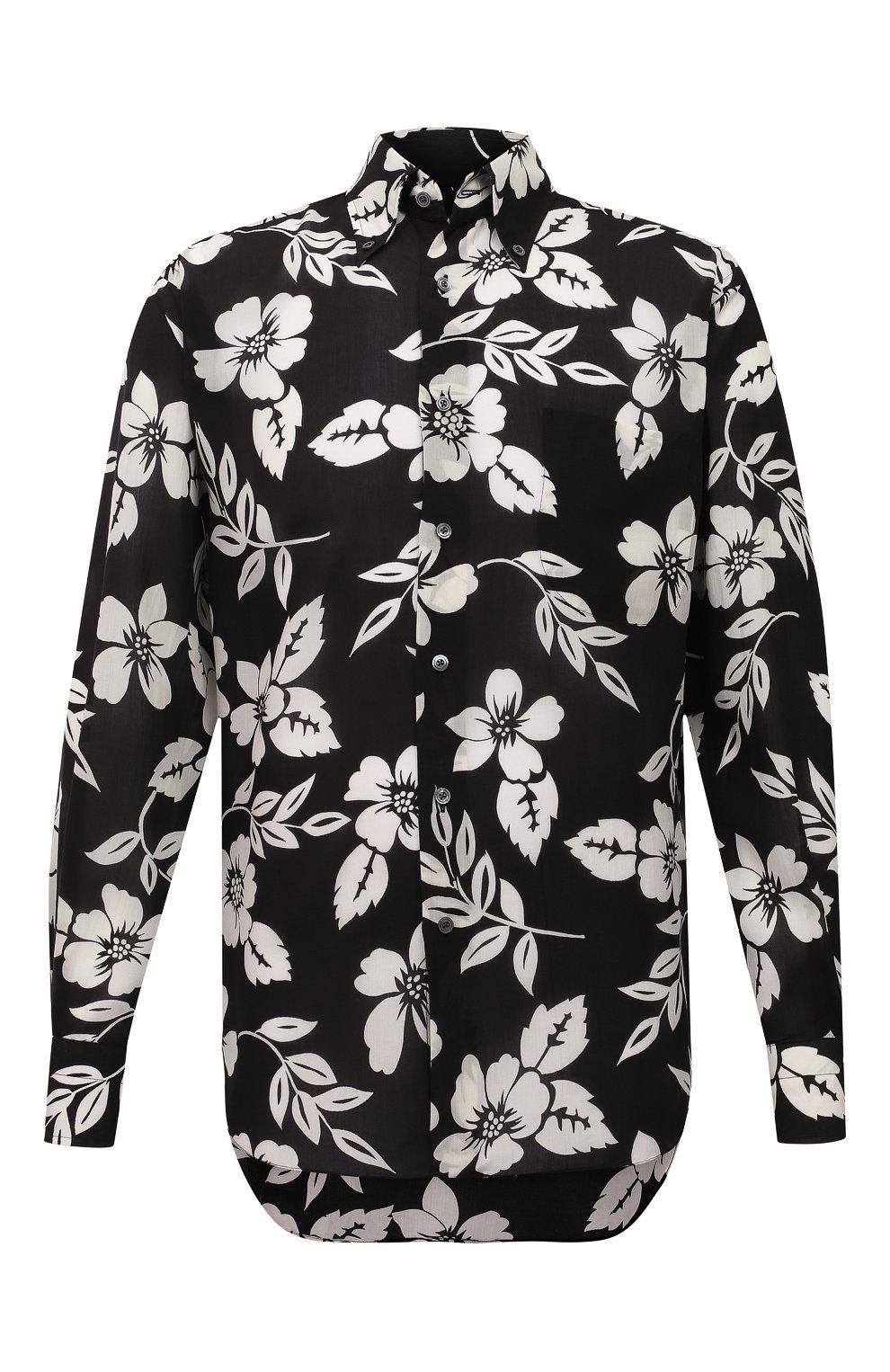 Мужская рубашка TOM FORD черного цвета, арт. 9FT918/94YSBE | Фото 1