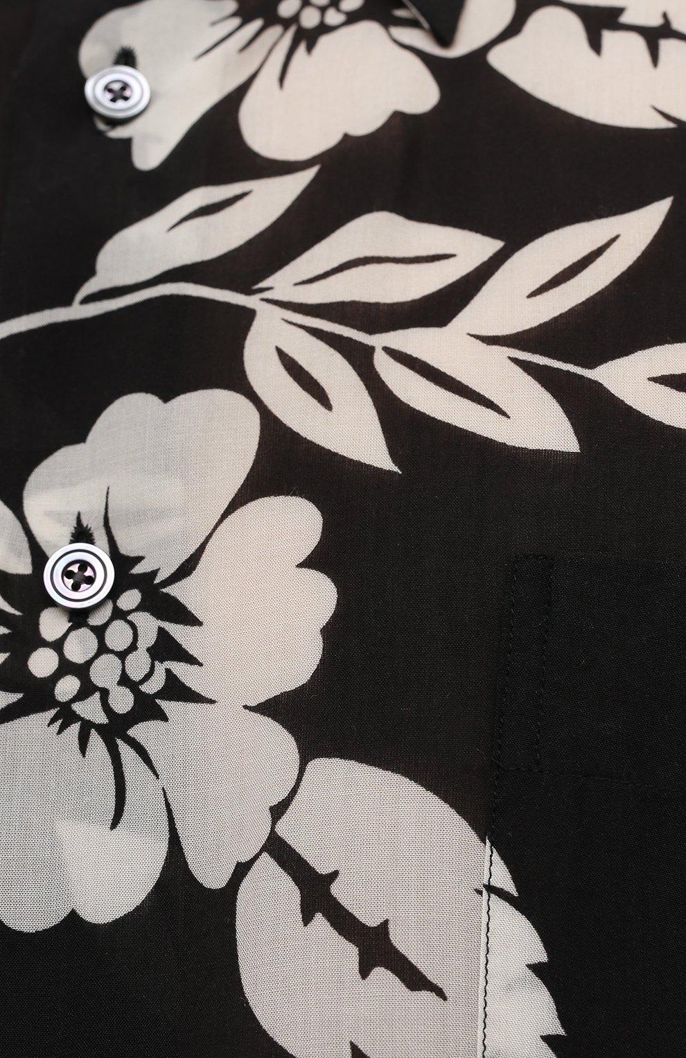 Мужская рубашка TOM FORD черного цвета, арт. 9FT918/94YSBE | Фото 5