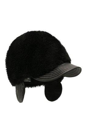 Женская меховая кепка CHLOÉ черного цвета, арт. CHC20WD007SLC | Фото 1