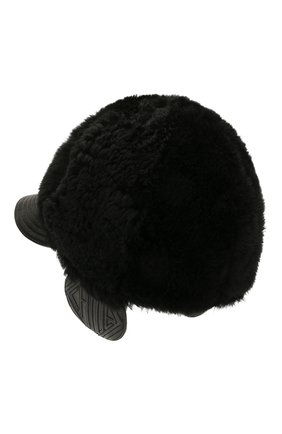 Женская меховая кепка CHLOÉ черного цвета, арт. CHC20WD007SLC | Фото 2
