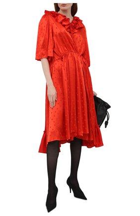 Женские текстильные туфли knife BALENCIAGA черного цвета, арт. 628602/W2AF1 | Фото 2