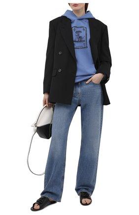 Женские кожаные шлепанцы oval BALENCIAGA черного цвета, арт. 629537/WBBQ2   Фото 2