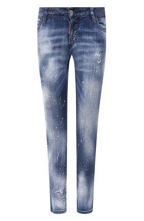 Женские джинсы DSQUARED2 темно-синего цвета, арт. S75LB0462/S30342 | Фото 1