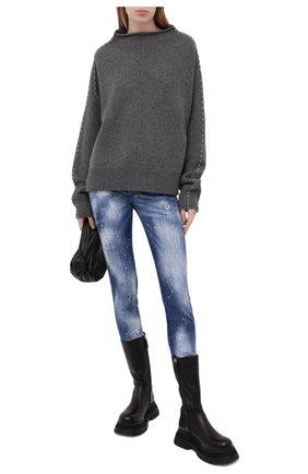 Женские джинсы DSQUARED2 темно-синего цвета, арт. S75LB0462/S30342 | Фото 2
