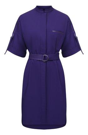 Женское хлопковое платье YVES SALOMON фиолетового цвета, арт. 20EYR03996C0XW   Фото 1